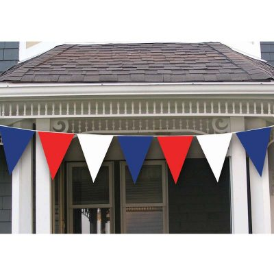 30' Red, White & Blue Pennant String