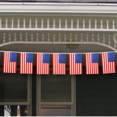 U.S. Flag Banner - 8' String Line of Flags