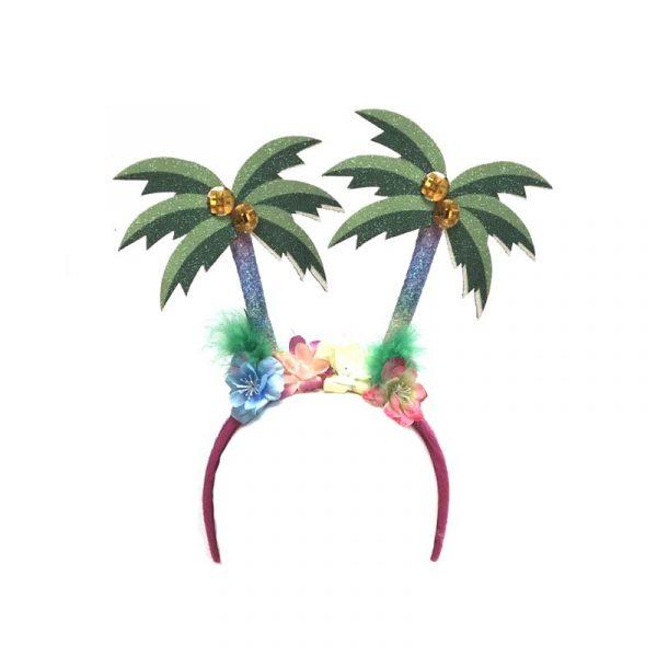 Glittered Luau Palm Tree Headband