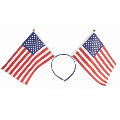 Fabric US Flags Patriotic Headband