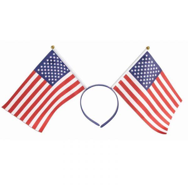 Fabric US Flags Patriotic Headband