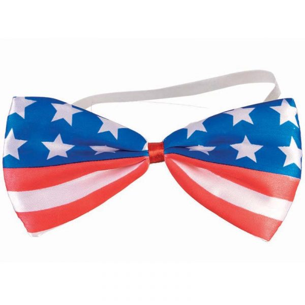 Fabric Patriotic Flag Pattern Bow Tie
