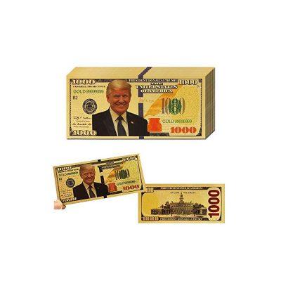 Gold Metallic Trump $1,000 Toy Bill