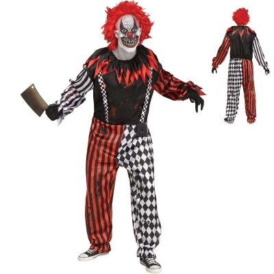 Freak Show Clown Halloween Costume Adult Child