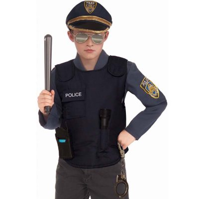 Police Vest Child Halloween Costume Unisex