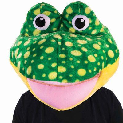 Giant Plush Frog Head Mascot Mask