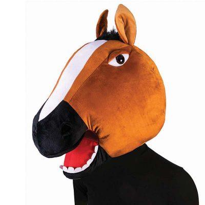 Giant Plush Horse Head Mascot Mask