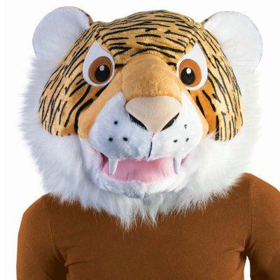 Giant Plush Tiger Head Mascot Mask