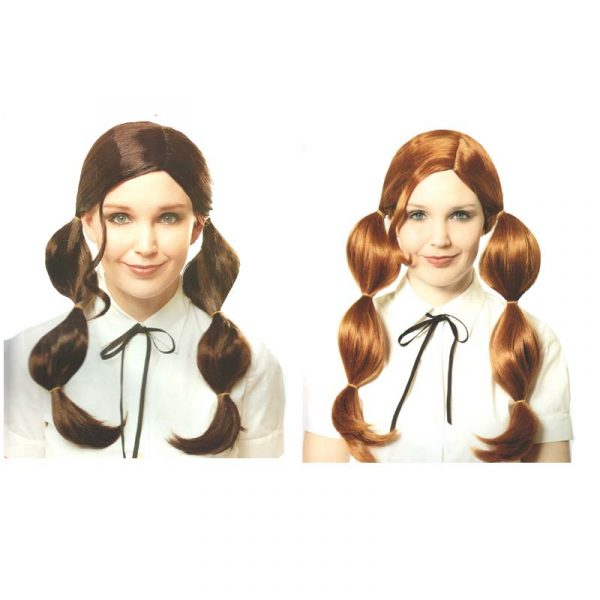 Bubble Pigtails Wig - Brown or Red