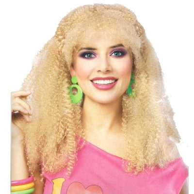 80s Crimped Blond Wig