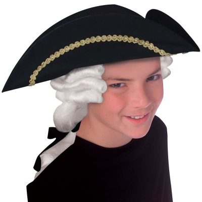 Child Colonial Hat with attached white hair