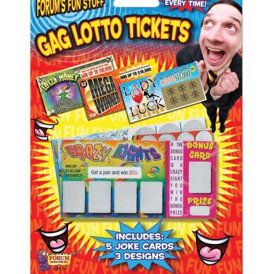 Novelty GAG Lotto Tickets