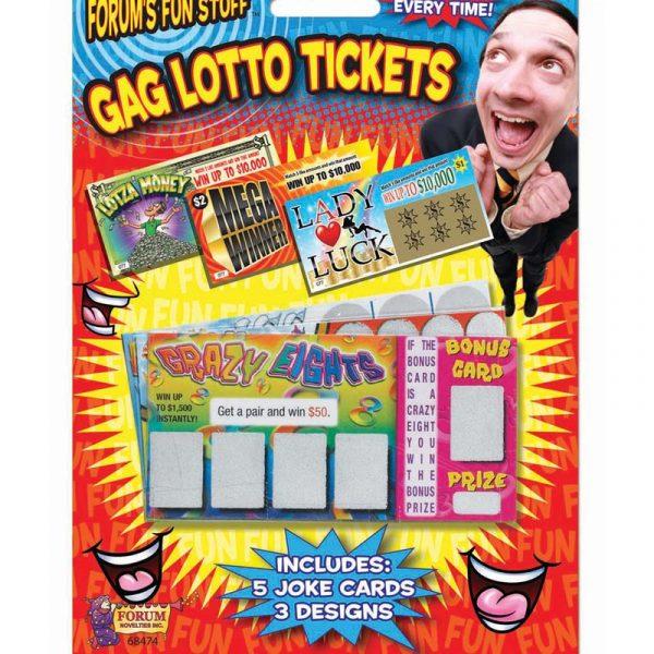 Novelty GAG Lotto Tickets
