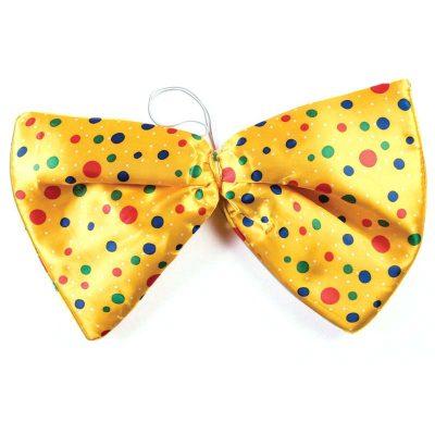 Fabric Clown Jumbo Bow Tie