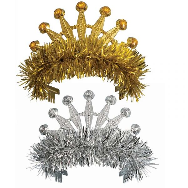 Tiara with Jewels and Fringe