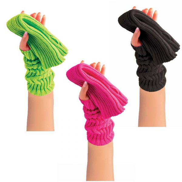 Costume 80s Arm Warmers Pink Black or Green