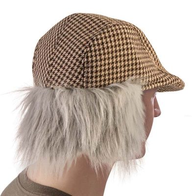 Fabric Old Man Hat w Gray Hair