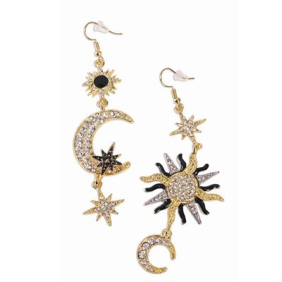 Celestial Moon Stars Deluxe Earrings