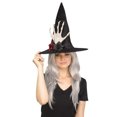 Costume Fabric Embellished Witch Hat