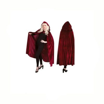 Long Luxurious Red Cloak