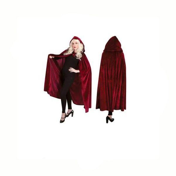 Long Luxurious Red Cloak
