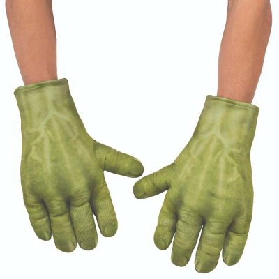 Costume Hulk Padded Green Child Gloves