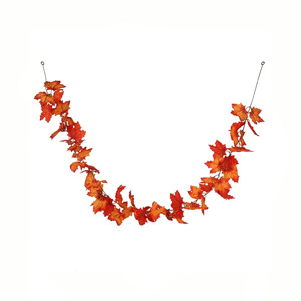 Silk Maple Leaf Garland with Berries