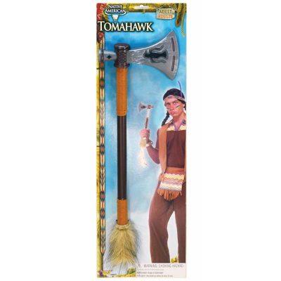 19 Inch Plastic Tomahawk w Fur Trim