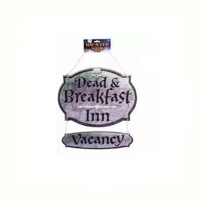 Hanging Dead & Breakfast Inn sign