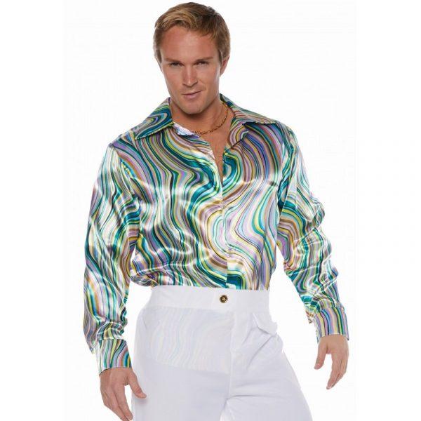 Disco Shirt Green/Blue Swirls