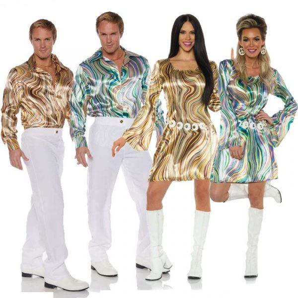 Disco swirl shirts and Disco Chick Swirl Dresses