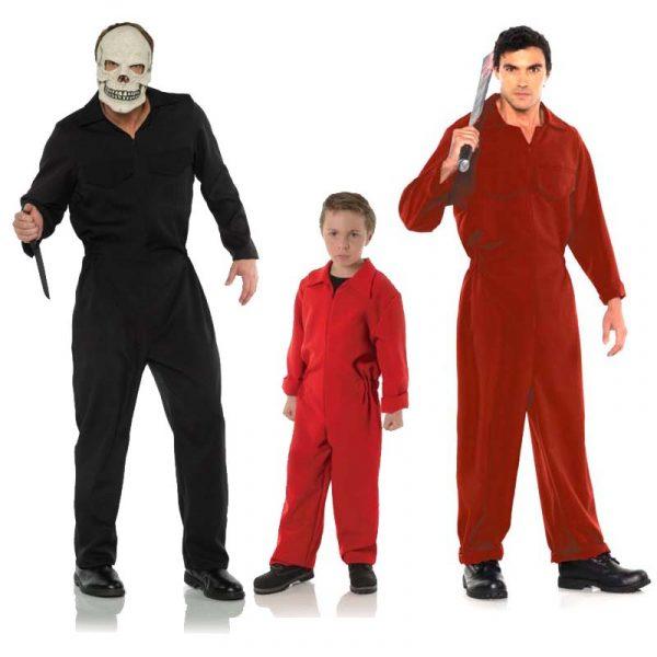 Boiler Jumpsuit Adult Red Black - Child Red