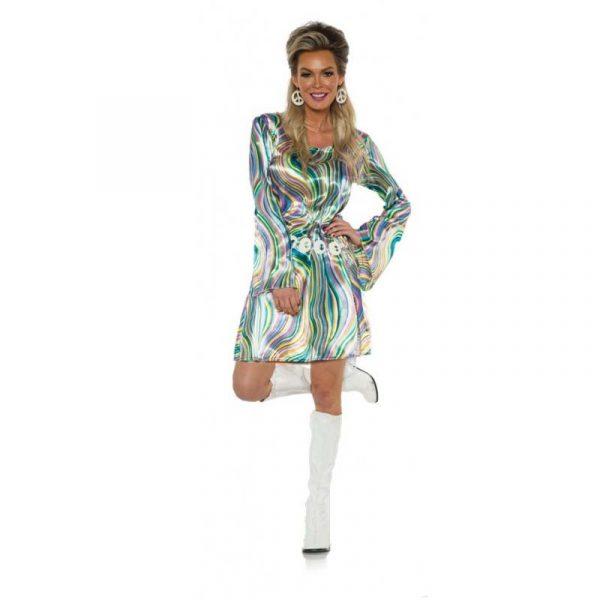 Disco Chick Blue/Green Swirls Dress