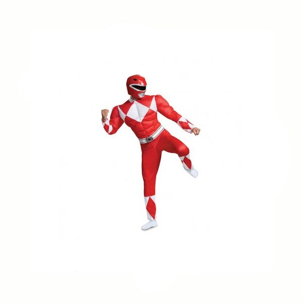Red Power Rangers Adult XXL