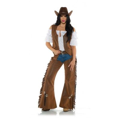 Cowgirl Fringed Chaps Vest