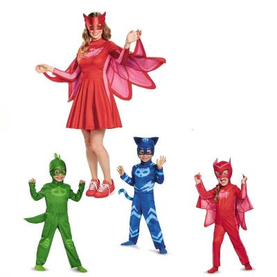 PJ Masks Adult and Child Costumes Owlette, Gekko, and Catboy