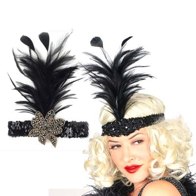 Deluxe Feather Kitty Flapper Headband
