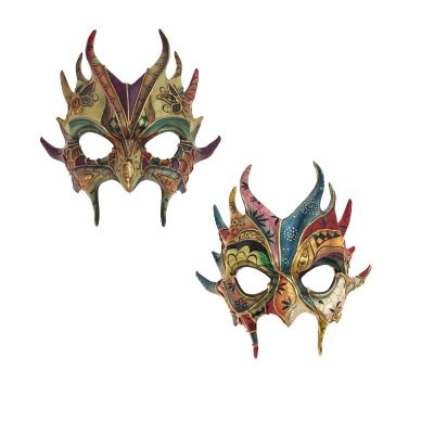 Costume Sculptured Goblin Venetian Face Mask