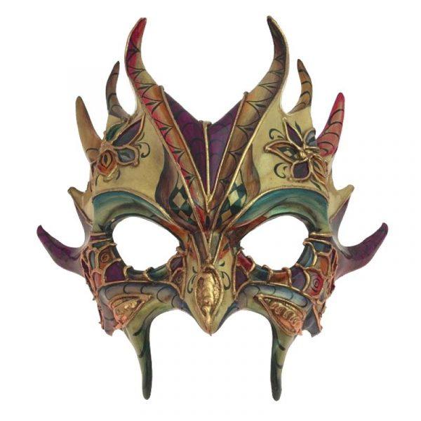Costume Sculptured Goblin Venetian Face Mask