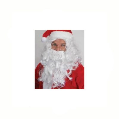 Santa Wig Beard Set White