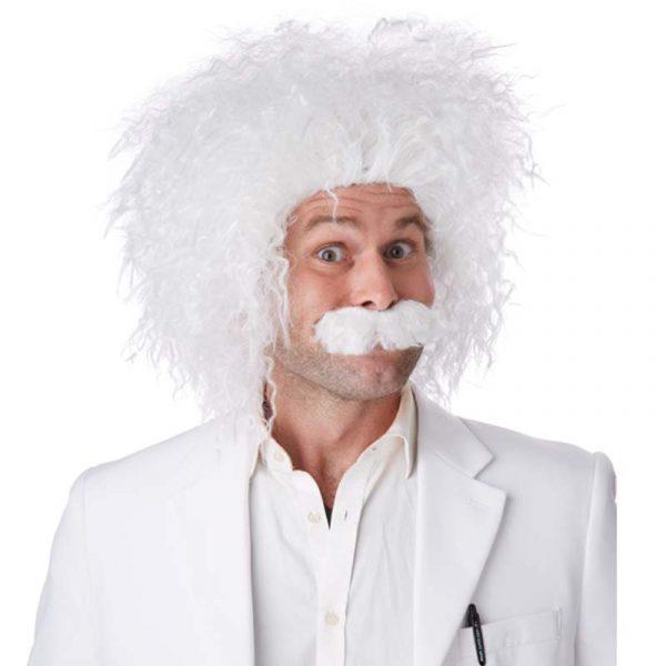 E=MC2. Atomic Wig w Mustache