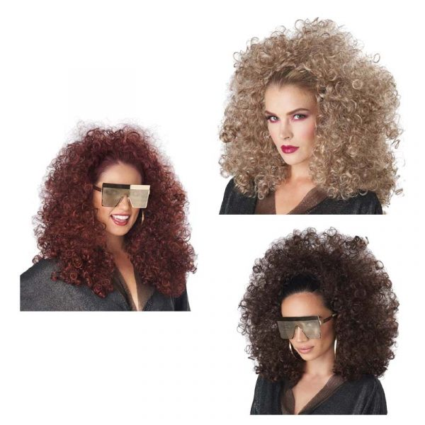 Curly Fall - 3/4 Wig w Attached Headband