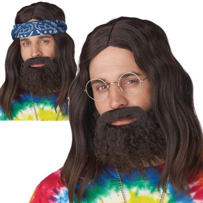 Hippie Wig Beard Mustache - Roll It Up