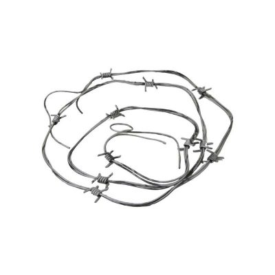 92 Inch Costume Twisted Plastic Silver Barbed Wire