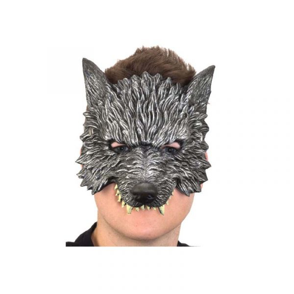 Costume Soft Foam Wolf Mask w Teeth