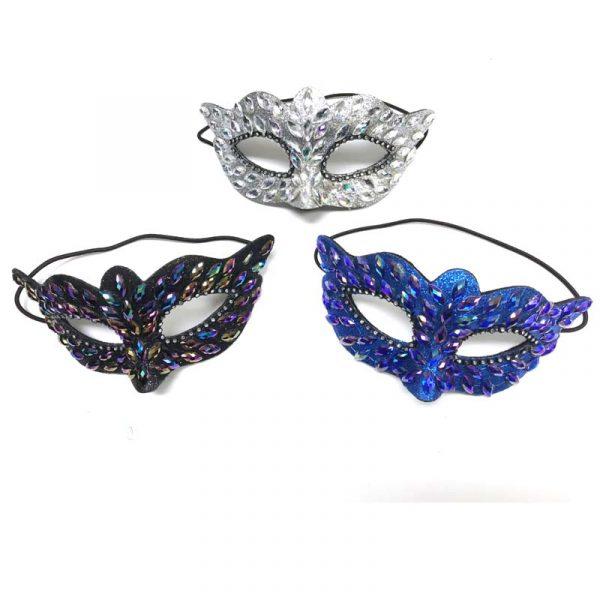 Iridescent Half Masks w Jewels