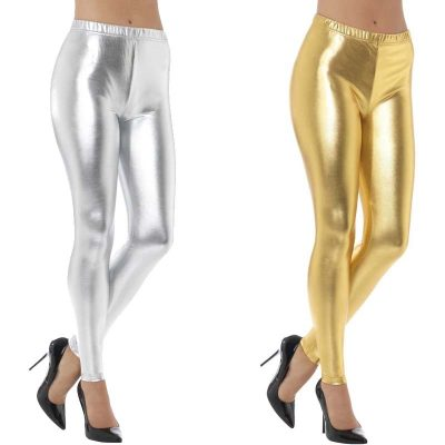 Metallic Fabric Leggings
