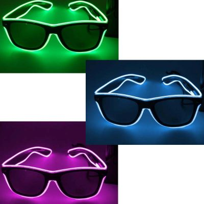 Light-Up Outline Sunglasses Electro-Luminous