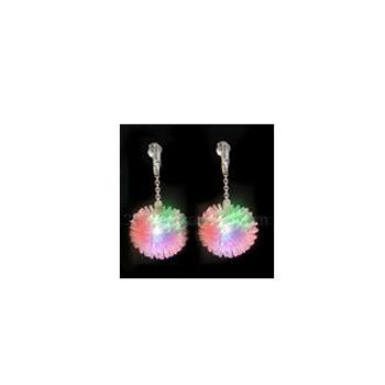 Light-Up Rubber Pom-Pom Earrings