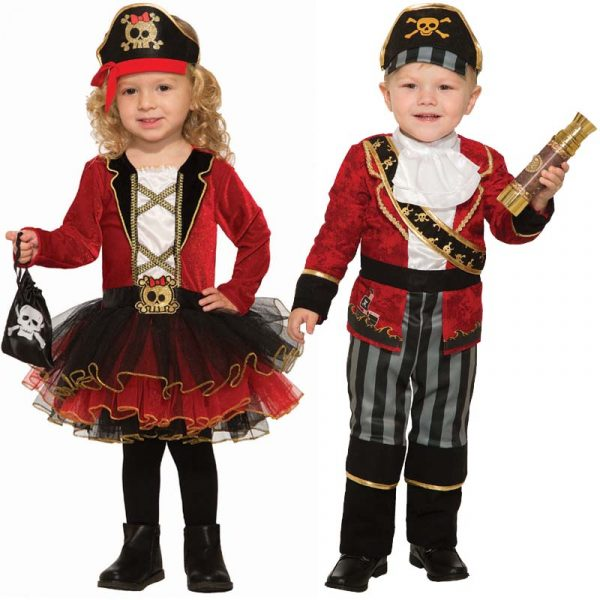 Pirate Girl Pirate Boy Toddler Halloween Costume